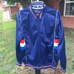 True VTG Vintage Blue Zip Up Track Jacket